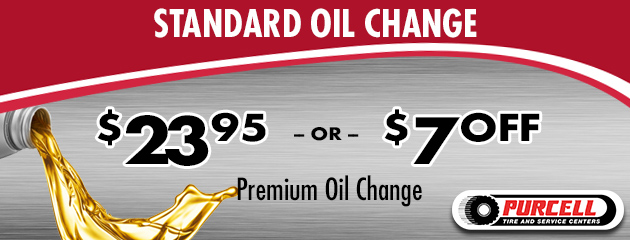 Receive a standard oil change for $23.95 OR $7.00 Off a premium oil change
